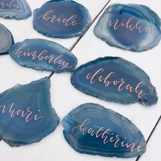 L O N D O N | B O U N D  _ I'm off to London today to meet with the fabulous @ohwondercalligraphy (creator of ) where we will finalise the stationery & signage designs for a very special wedding in August! Kx _ #Repost @ohwondercalligraphy  Copper ink on the bluest of blue agate giving me all the heart eyes today  . . . #moderncalligraphy #weddingstationery #londonwedding #moderncalligraphyuk #calligraphy #bespokeweddingstationery #inspo #love #pursuepretty #placesettings #eventdesign…