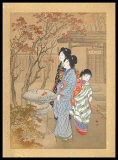 """""""Autumn"""" (title 22), Yamamoto Shōun (Matsutani Shōun) (1870-1965) - 1900."""