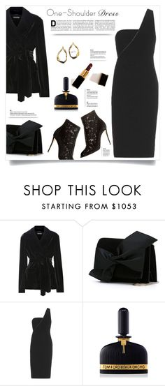 """One-Shoulder Dress"" by kiki-bi ❤ liked on Polyvore featuring Tom Ford and Victoria Beckham"