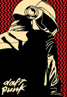 Daft Punk Thomas Bangalter Art Print II by PeikkoKasvot on Etsy, $19.99