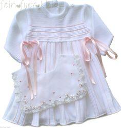 exclusives Baby Kleid, Strickkleid mit Spitzenkragen, Taufkleid Party, Gr. 62-68 | eBay