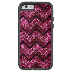 Bling Glam Girly Glitter Sparkle Chevron iPhone 7 Plus Case Red Eyeshadow, Glitter Girl, Iphone 7 Plus Cases, Apple Iphone, Chevron, Sparkle, Girly, Bling, Accessories