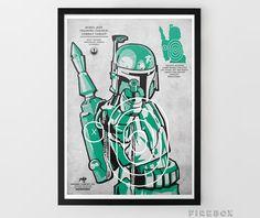 Star Wars 'Villains' Art Prints Set Limited Edition by cupatee Boba Fett Art, Star Wars Boba Fett, Star Wars Guns, Star Wars Fan Art, Star Trek, Shooting Targets, Star Wars Poster, Nerd, Geek Stuff