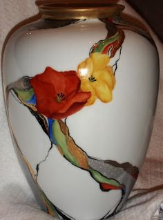 Peinture sur porcelaine: Technique moderne - Vase                                                                                                                                                                                 Plus