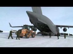 Canadian Air Force delivers cargo to CFS Alert in Nunavut Territory -- perhaps the farthest north any airplane can land. Air Force, Fighter Jets, Aircraft, Youtube, Aviation, Luftwaffe, Plane, Airplanes, Youtubers