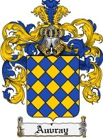Auvray Coat of Arms / Family Crest Downloadable JPG $4.75
