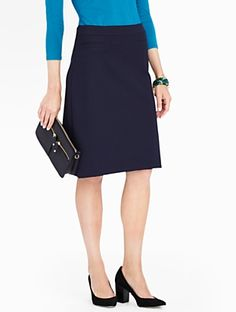 Talbots - Refined Ponte A-Line Skirt | | Misses Discover your new look at Talbots. Shop our Refined Ponte A-Line Skirt for stylish clothing and accessories with a modern twist at Talbots