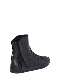 Alexandre Plokhov wrinkled leather high top sneakers  (via Visions of the Future)