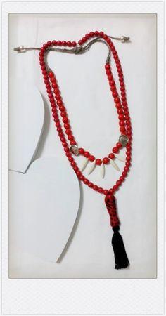 Collares de turquesa de color rojo by Olga Cas