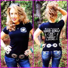 Sons of Liberty Tees: Good Girls. Carry Guns. Women's T-Shirt.