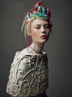 Haute-couture hair :   W Magazine