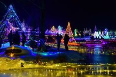 Gardens Aglow wonderland at Coastal Maine Botanical Gardens. The largest Christmas light display in Maine.