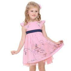 >> Click to Buy << Kid dresses for children girls 2-6 years 2017 summer pink kids wear,vestidos infantis de birthday dresses for baby girls clothes #Affiliate