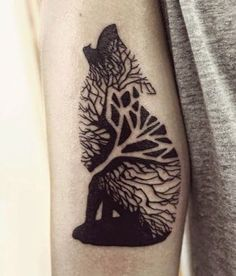 Unique Abstract Wolfs Tattoo ideas for women