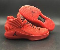66e94ba28319 Latest 2018 Air Jordan 32 Rosso Corsa Gym Red Black AA1253-601 Zapatos  Deportivos De