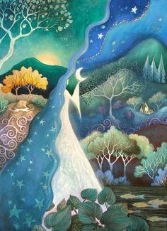 A fairytale art print . 'Bringer of Night.'