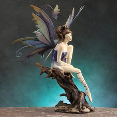 Shop fairy figurines made by fairy artists from around the world. Find great deals on fairy and other enchanted being figurines. Fairy Statues, Fairy Figurines, Magical Creatures, Fantasy Creatures, Kobold, Clay Fairies, Arte Disney, Beautiful Fairies, Fairy Art