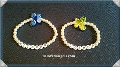 Personalized bracelet with different colored butterflies