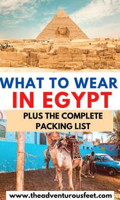 Not sure what to pack or wear in Egypt? This complete packing list for Egypt will show you everything you'll need for your trip. Packing Tips For Vacation, Vacation Trips, Travel Packing, Packing Lists, Egypt Travel, Africa Travel, Travel Advice, Travel Guides, Travel Hacks