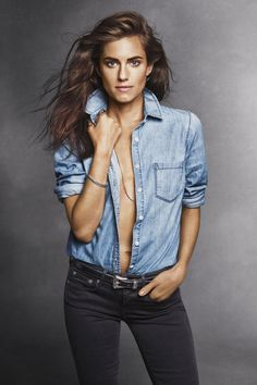 Allison Williams bares it all in the December issue of harper by Harper's BAZAAR. See the full fashion shoot here: