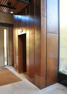 Wadham College Oxford_Interior cladding to new lift structure.
