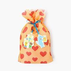 [AIUEO] Present bag (M) - Pig Trio (OR)