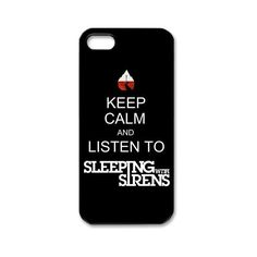 Sleeping with Sirens iPhone 5 Case Hard Plastic iPhone 5 Case ($9.99) ❤ liked on Polyvore featuring accessories, tech accessories, phone cases, band merch, phone and iphone smartphone