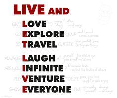 LIVE END LET LIVE  #love #explore #travel #laugh #infinite #venture #everyone #live #amore #viaggi #esplora  VIVI E LASCIA VIVRE