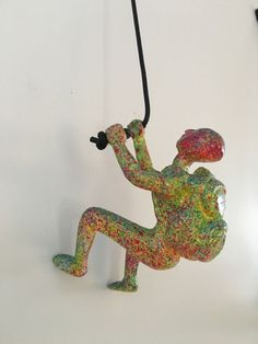 Climbing Man Wall Art Home Decor Sculpture Dimensions Are X One Mount Of A Leathered Rope For Distinctive Décor Accent