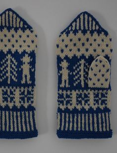 Mittens & Gloves in Museum in Tallinn, posted by Kasamud Mittens Pattern, Knit Mittens, Knitted Gloves, Fingerless Gloves, Wrist Warmers, Hand Warmers, Simple Geometric Designs, Tapestry Weaving, Embroidery Patterns