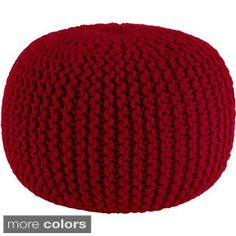Shop for Celebration Hand Knitted Pure Cotton Braid Pouf. Get free shipping at Overstock.com - Your Online Furniture Outlet Store! Get 5% in rewards with Club O!