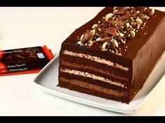 "Tort ""Îndrăgostit de ciocolată"" - YouTube Chocolate Glaze Recipes, Romanian Desserts, Something Sweet, Kitchenaid, Tiramisu, Sweets, Diet, Ethnic Recipes, Food"