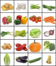 Vegetable pictures - images of vegetables and their names Can you name the vegetables by their picture Quiz by when flies pig Name Of Vegetables, Veggies, Vegetable Crafts, Vegetable Pictures, Food Pyramid, Fruit And Veg, Kids Nutrition, Kids Education, Healthy Eating