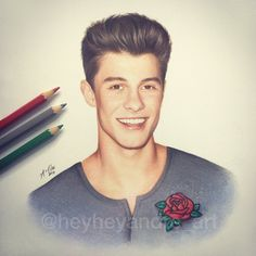 Drawing of Shawn Mendes 2017