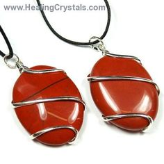 Crystal Pendants - Red Jasper Cabochon (Wrapped)- Red Jasper - Healing Crystals