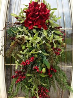 Christmas Wreath Winter Swag by AnExtraordinaryGift,