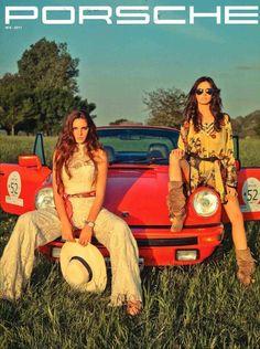 Girls + Porsche = nirvana