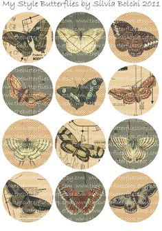 MY STYLE BUTTERFLIES rd  digital collage by TheButterfliesShop, $2.00