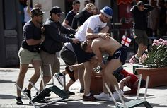 England and Russia fans fought running battles on the streets ahead of Euro 2016 group fixture on Saturday