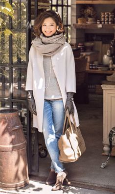 love this whole look! Modest Fashion, Love Fashion, Fashion Outfits, Womens Fashion, Fashion Trends, Fall Outfits, Casual Outfits, Mode Mantel, Winter Stil
