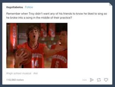 Troy's character arc: