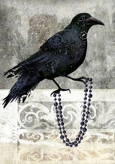 art print- Castle Crow- digital painting with original photos processed at PS Crow Art, Raven Art, Bird Art, Vampires, Quoth The Raven, Jackdaw, Crows Ravens, Tattoo Motive, Photo Processing