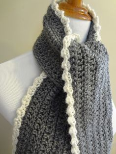 Love the simple, yet beautiful, lacey edging/border.  From Fiber Flux...Adventures in Stitching: Free Crochet Pattern...Ingrid Scarf