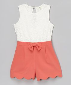 Look at this Monteau Girl White & Coral Floral Lace Romper on #zulily today! Toddler Outfits, Kids Outfits, Summer Outfits, Cute Outfits, Tween Fashion, Little Girl Fashion, Fashion Outfits, Future Clothes, Little Fashionista