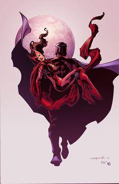 Magneto & Scarlet Witch by Eddy-Swan