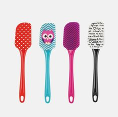 Silicone Spatula with Assorted Designs