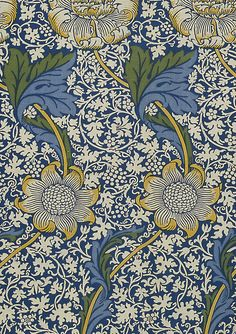 A Look Inside V&A Pattern by Jordan Kushins British textile designer William Morris made a tremendous impact on decorative design just before the turn of the century. This is Kennet for Morris & Co. 1883 from William Morris. William Morris Wallpaper, William Morris Art, Morris Wallpapers, Floral Wallpapers, Fabric Wallpaper, Of Wallpaper, Designer Wallpaper, Wallpaper Designs, Motif Floral