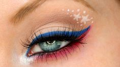 Patriotic Red, White & Blue   4th of July Makeup Tutorial