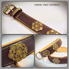Flower Ornaments on strong oil-dressed Leather