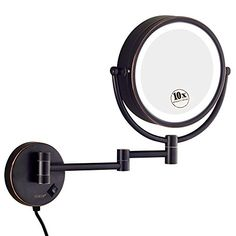 GURUN LED Lighted Wall Mount Makeup Mirror with 10x MagnificationOilRubbed Bronze Finish 85 Inch BRASSM1809DO85in10x >>> Click image for more details. (It is an affiliate link and I receive commission through sales)